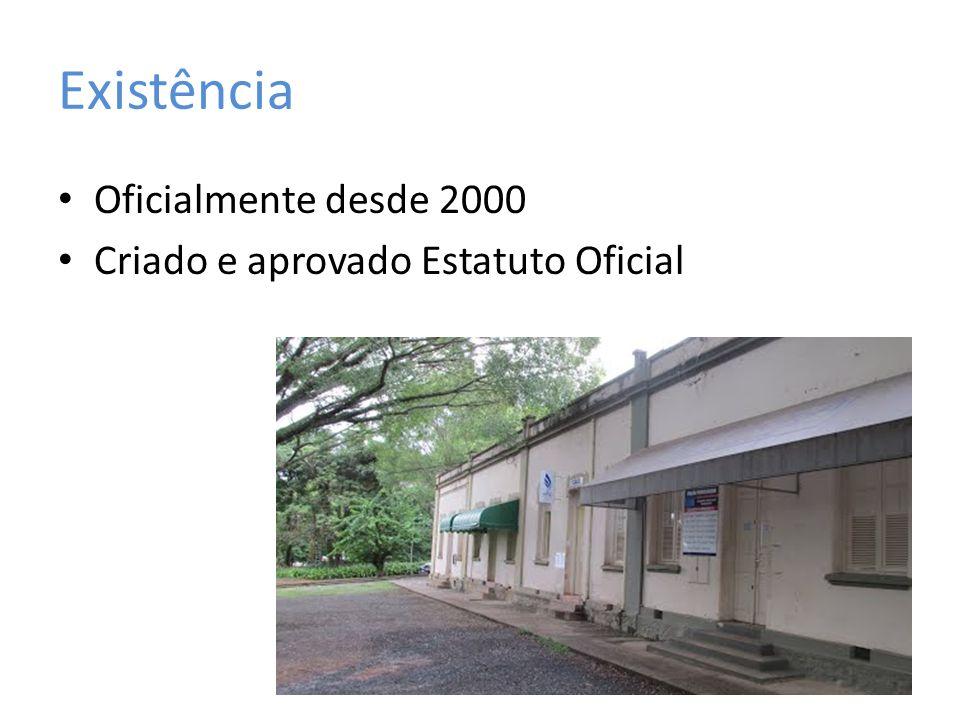 Existência Oficialmente desde 2000 Criado e aprovado Estatuto Oficial