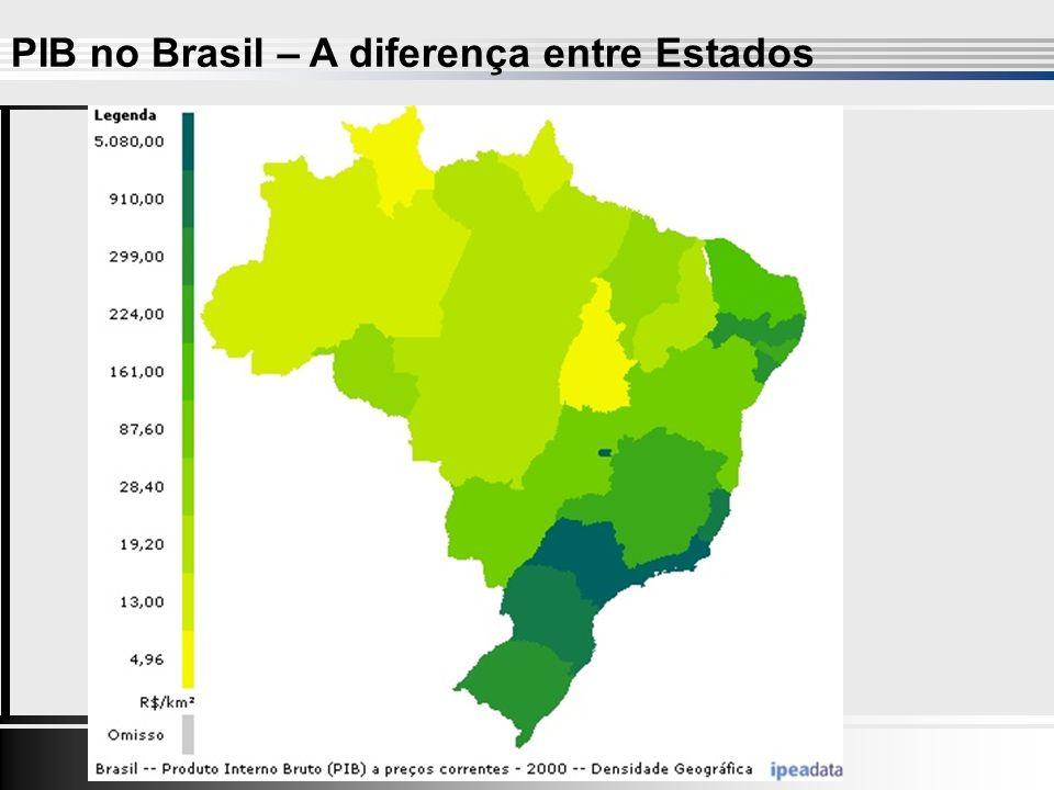 PIB no Brasil – A diferença entre Estados