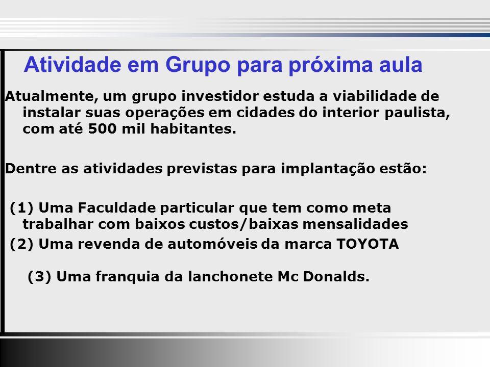 Atualmente, um grupo investidor estuda a viabilidade de instalar suas operações em cidades do interior paulista, com até 500 mil habitantes.