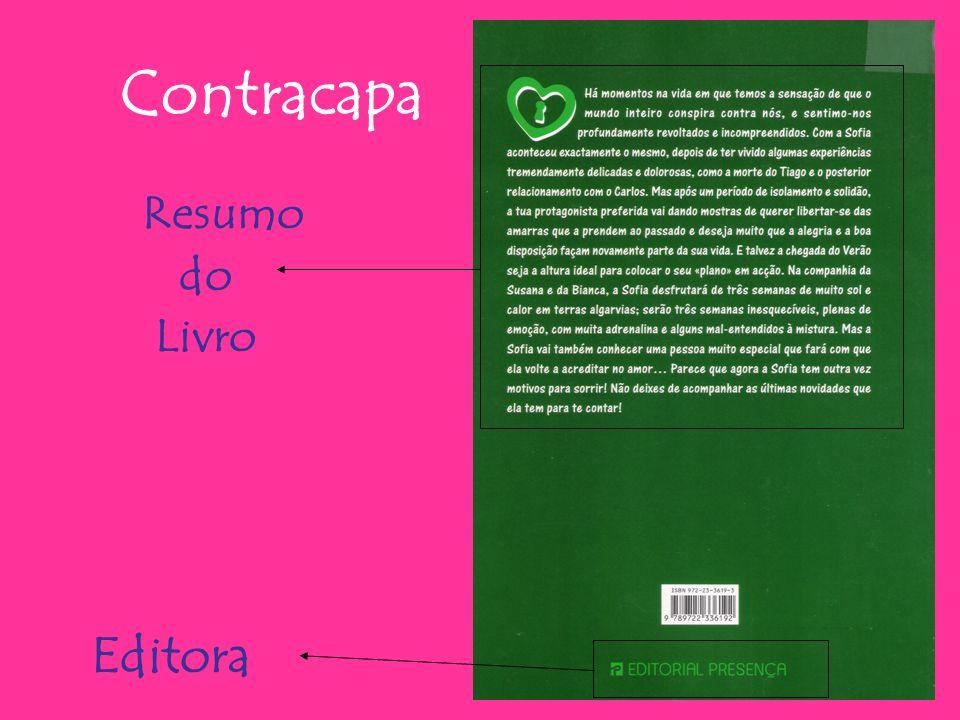 Contracapa Resumo do Livro Editora