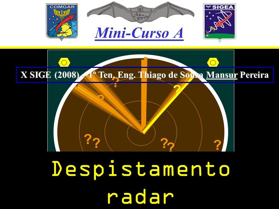 Mini-Curso A ? ? ? ? ? ? ? ? ? ? Despistamento radar