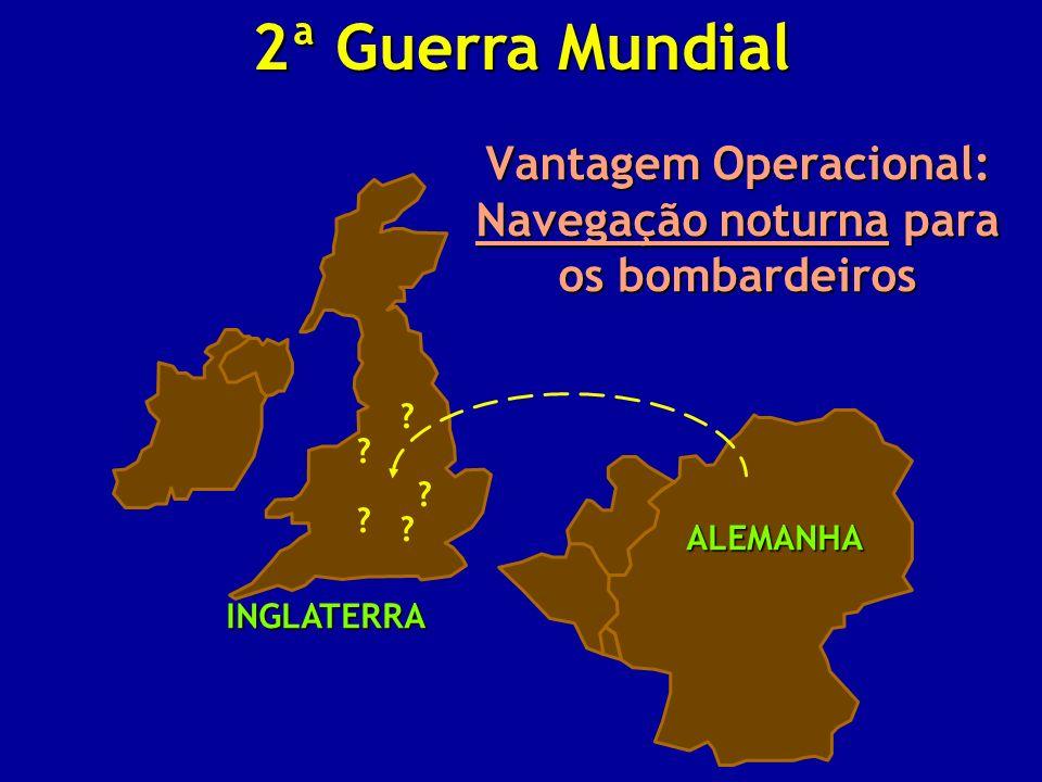 Vantagem Operacional: Navegação noturna para os bombardeiros ? ? ? ? ? INGLATERRA ALEMANHA 2ª Guerra Mundial