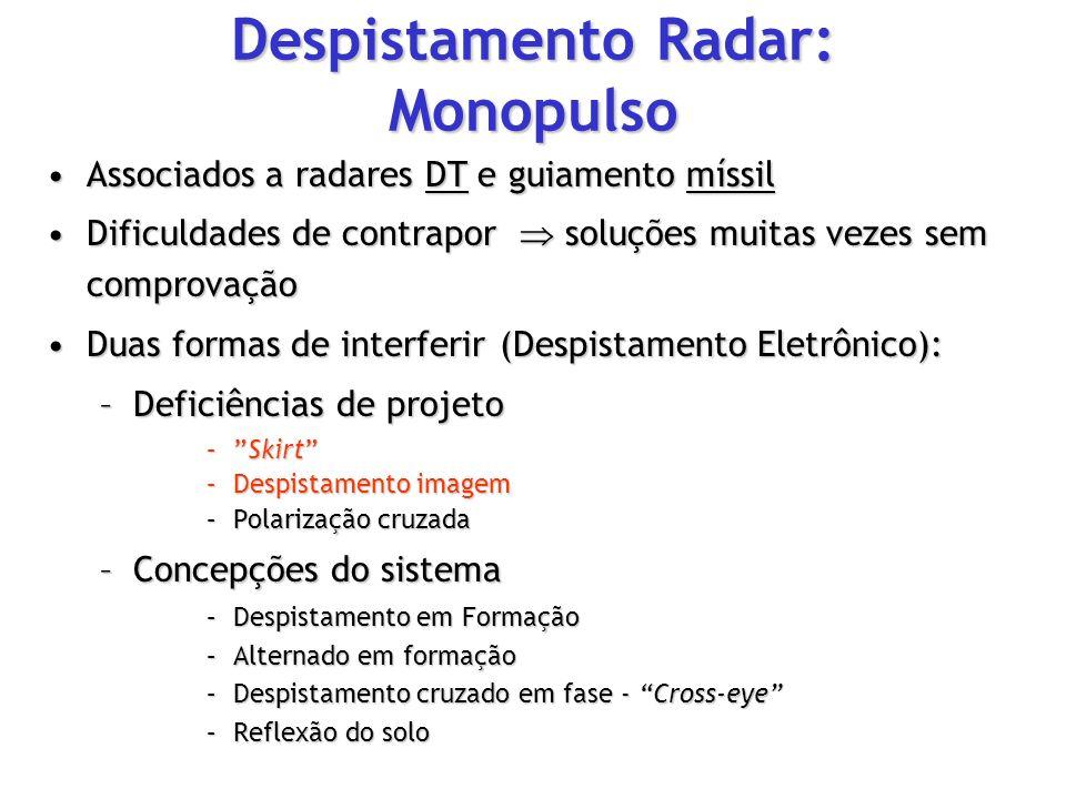 Associados a radares DT e guiamento míssilAssociados a radares DT e guiamento míssil Dificuldades de contrapor soluções muitas vezes sem comprovaçãoDi