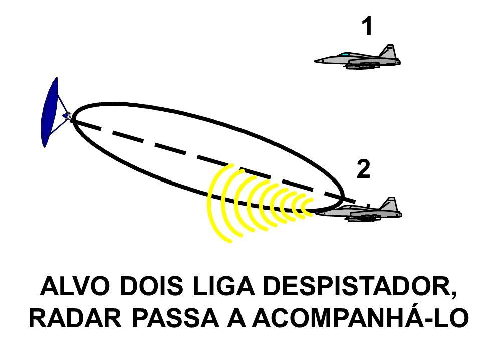 ALVO DOIS LIGA DESPISTADOR, RADAR PASSA A ACOMPANHÁ-LO 1 2