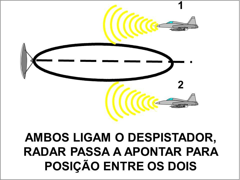 AMBOS LIGAM O DESPISTADOR, RADAR PASSA A APONTAR PARA POSIÇÃO ENTRE OS DOIS 1 2