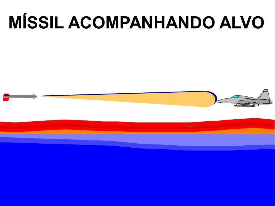 MÍSSIL ACOMPANHANDO ALVO