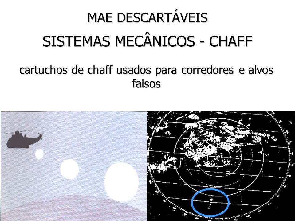 MAE DESCARTÁVEIS SISTEMAS MECÂNICOS - CHAFF cartuchos de chaff usados para corredores e alvos falsos