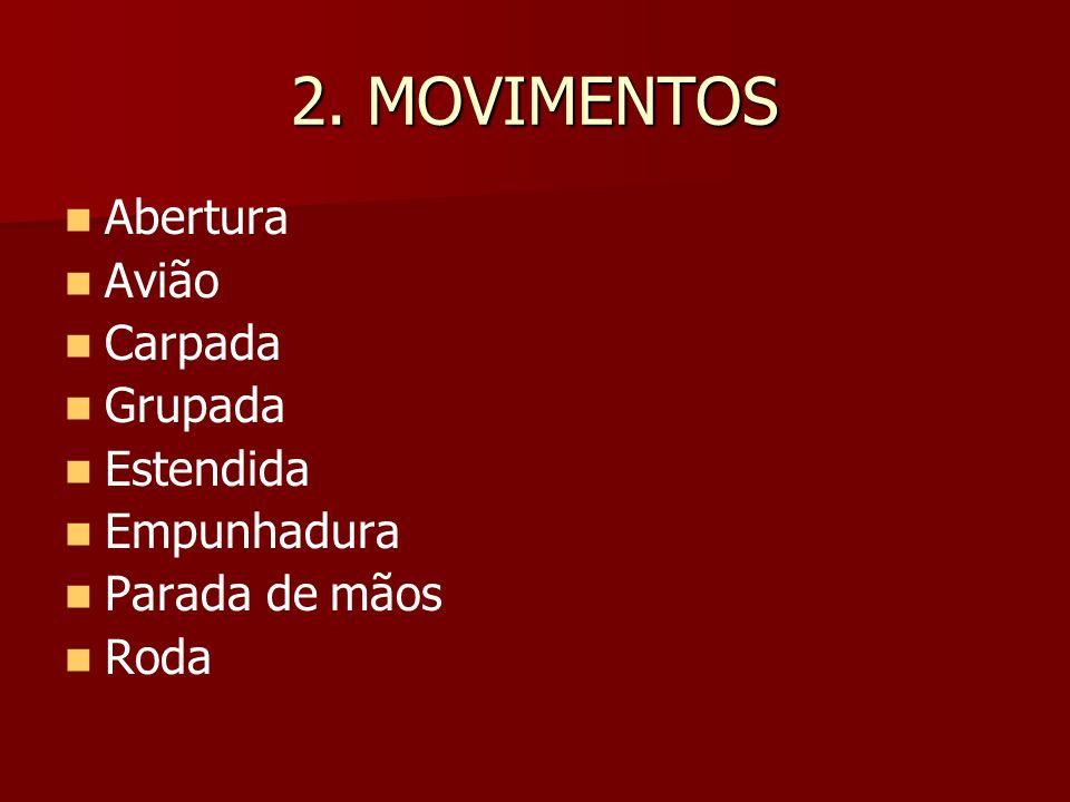 GINÁSTICA ACROBÁTICA Os acrobatas em grupo devem executar três séries.