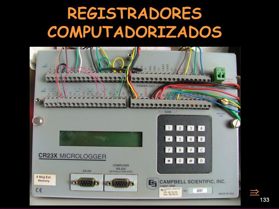 133 REGISTRADORES COMPUTADORIZADOS