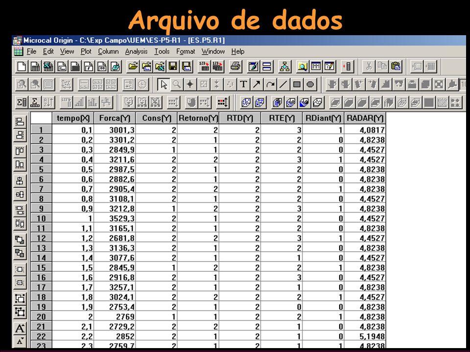 134 Arquivo de dados