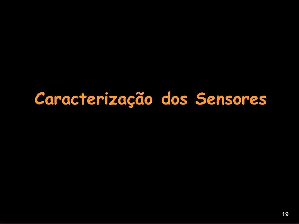 19 Caracterização dos Sensores