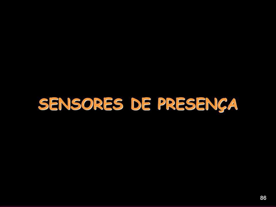 86 SENSORES DE PRESENÇA