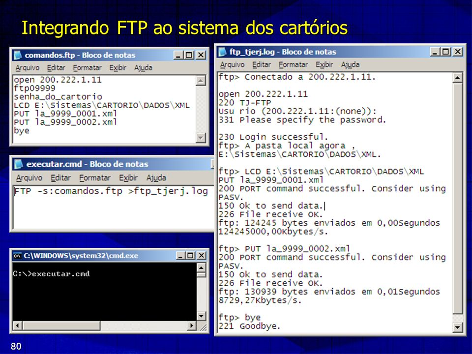 80 Integrando FTP ao sistema dos cartórios