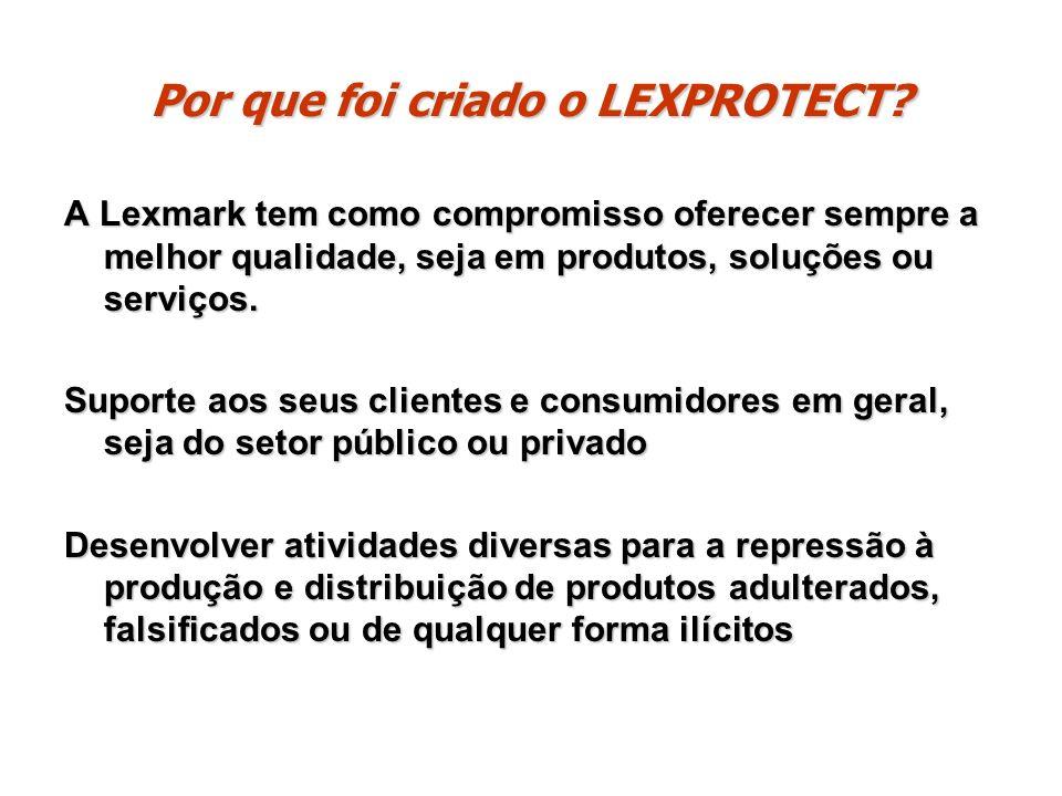 Por que foi criado o LEXPROTECT? A Lexmark tem como compromisso oferecer sempre a melhor qualidade, seja em produtos, soluções ou serviços. Suporte ao
