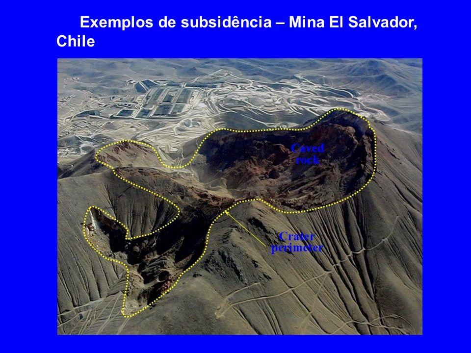 Exemplos de subsidência – Mina El Salvador, Chile