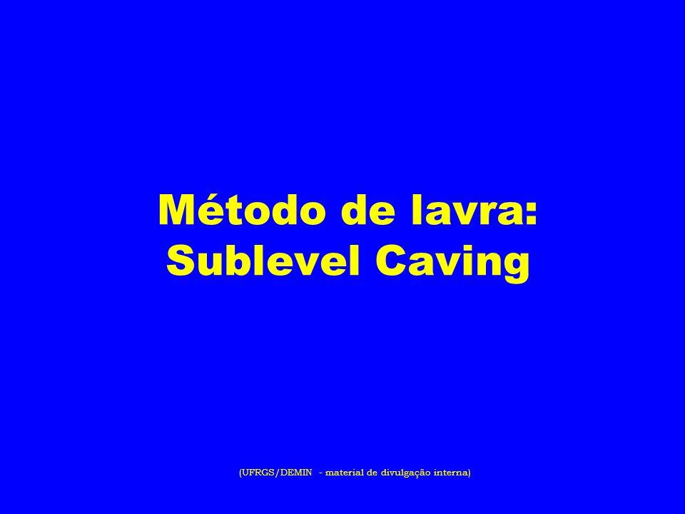 Método de lavra: Sublevel Caving (UFRGS/DEMIN - material de divulgação interna)