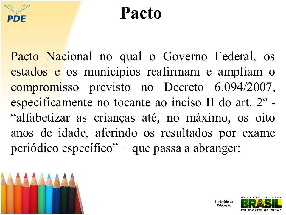 Pacto Pacto Nacional no qual o Governo Federal, os estados e os municípios reafirmam e ampliam o compromisso previsto no Decreto 6.094/2007, especificamente no tocante ao inciso II do art.