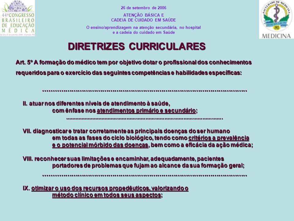 Art. 5º A formação do médico tem por objetivo dotar o profissional dos conhecimentos requeridos para o exercício das seguintes competências e habilida