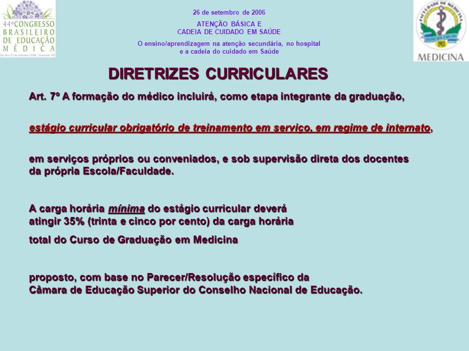 Art. 7º A formação do médico incluirá, como etapa integrante da graduação, estágio curricular obrigatório de treinamento em serviço, em regime de inte