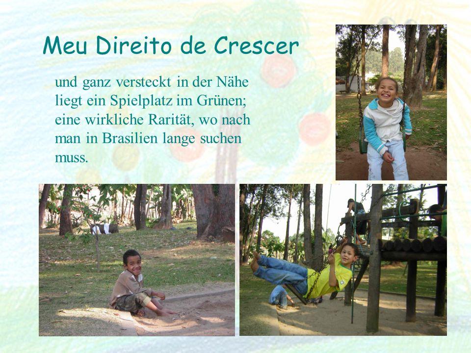 Meu Direito de Crescer und ganz versteckt in der Nähe liegt ein Spielplatz im Grünen; eine wirkliche Rarität, wo nach man in Brasilien lange suchen mu