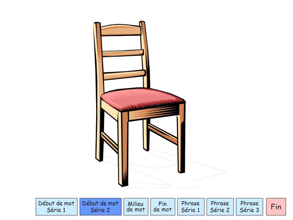 Phrase Série 1 Début de mot Série 1 Milieu de mot Fin de mot Fin Début de mot Série 2 Phrase Série 2 Phrase Série 3