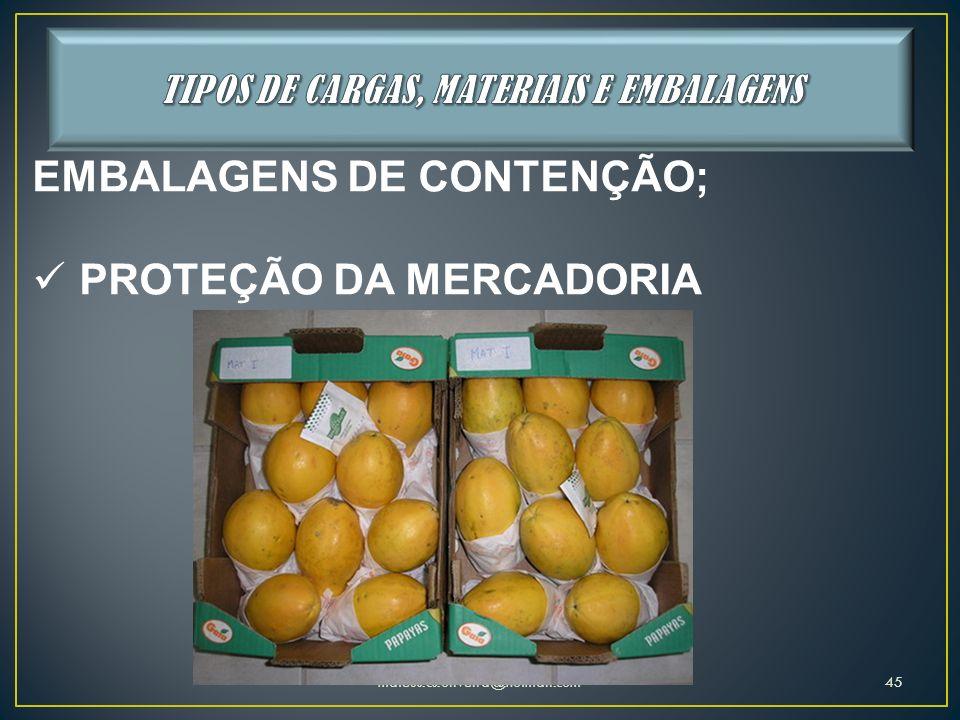 mateus.cs.oliveira@hotmail.com45 EMBALAGENS DE CONTENÇÃO; PROTEÇÃO DA MERCADORIA