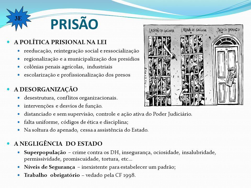 PRISÃO A POLÍTICA PRISIONAL NA LEI reeducação, reintegração social e ressocialização regionalização e a municipalização dos presidios colônias penais