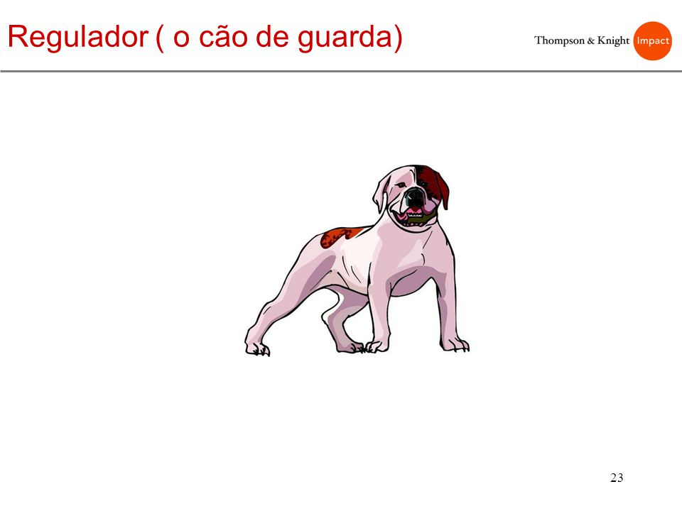 23 Regulador ( o cão de guarda)