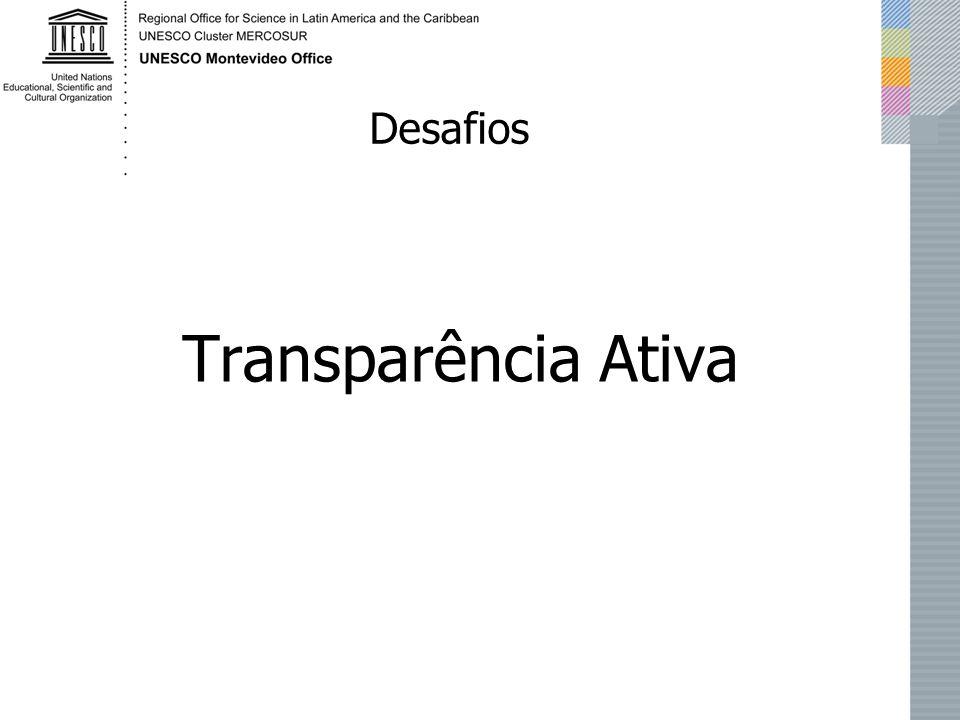 Transparência Ativa Desafios