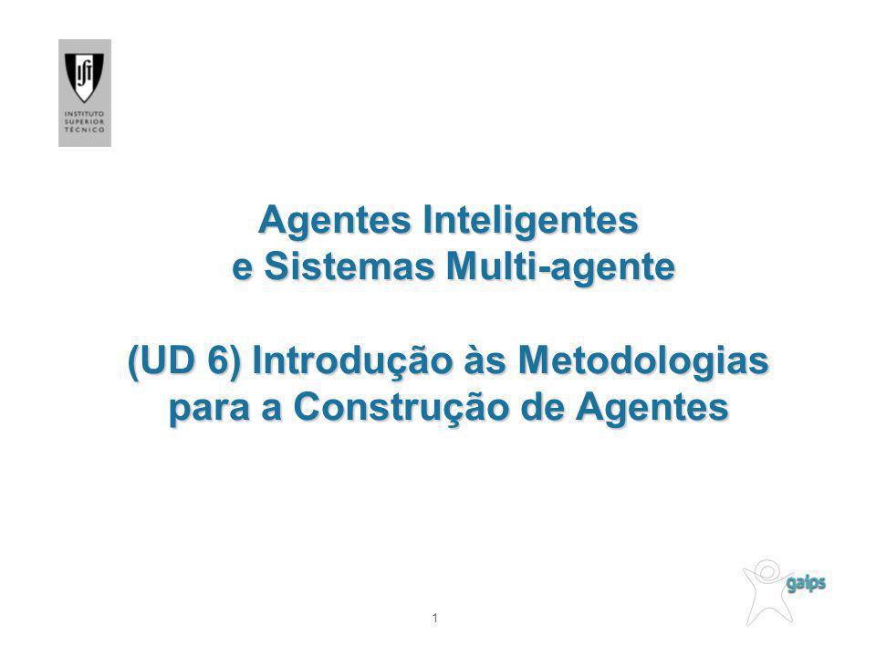 1 Agentes Inteligentes e Sistemas Multi-agente (UD 6) Introdução às Metodologias para a Construção de Agentes
