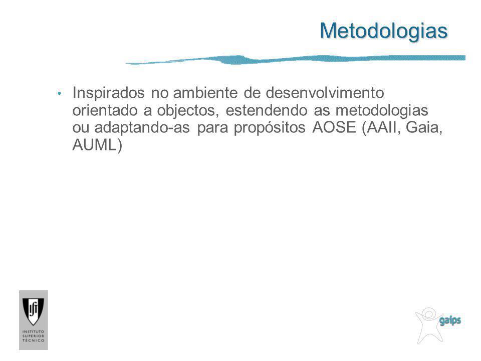 Metodologias Inspirados no ambiente de desenvolvimento orientado a objectos, estendendo as metodologias ou adaptando-as para propósitos AOSE (AAII, Ga