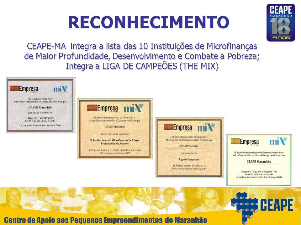 Centro de Apoio aos Pequenos Empreendimentos do Maranhão RECONHECIMENTO CEAPE-MA integra a lista das 10 Instituições de Microfinanças de Maior Profund