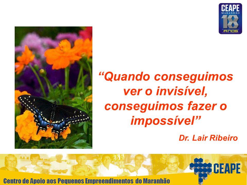 Centro de Apoio aos Pequenos Empreendimentos do Maranhão Quando conseguimos ver o invisível, conseguimos fazer o impossível Dr. Lair Ribeiro