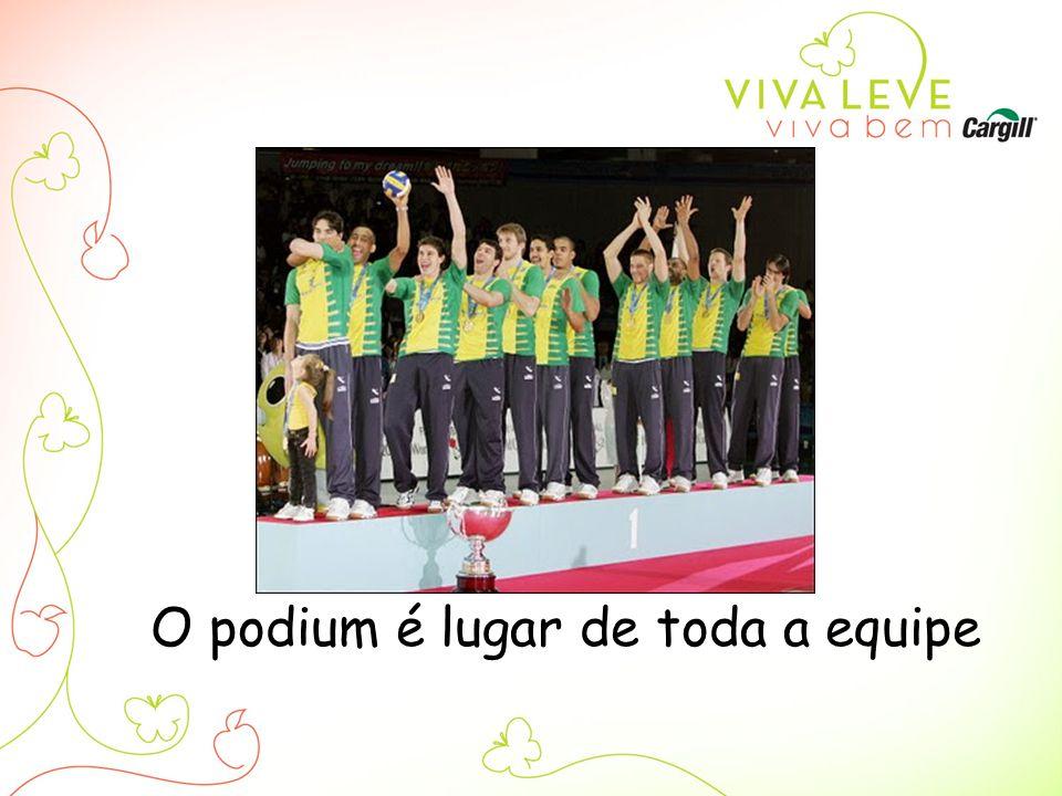 O podium é lugar de toda a equipe