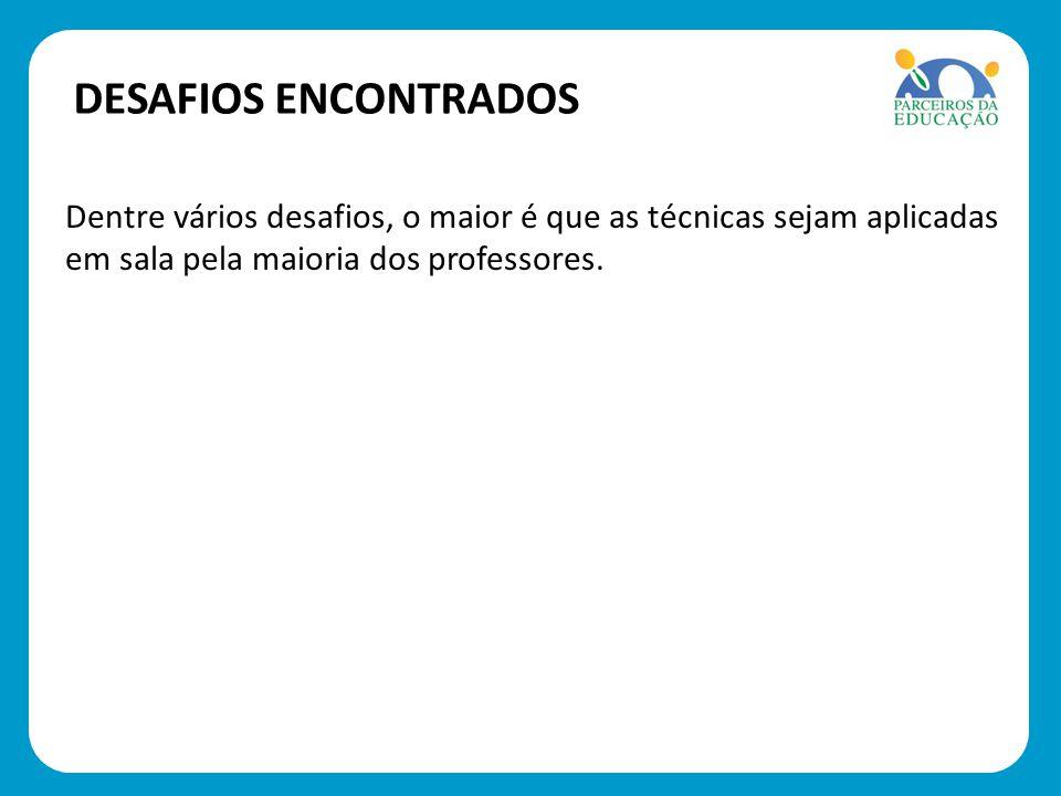 SOLUÇÕES DESENCADEADAS Observação de sala de aula feita pelos coordenadores pedagógicos.