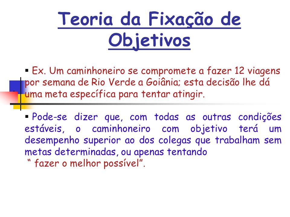 Teoria da Fixação de Objetivos Ex.