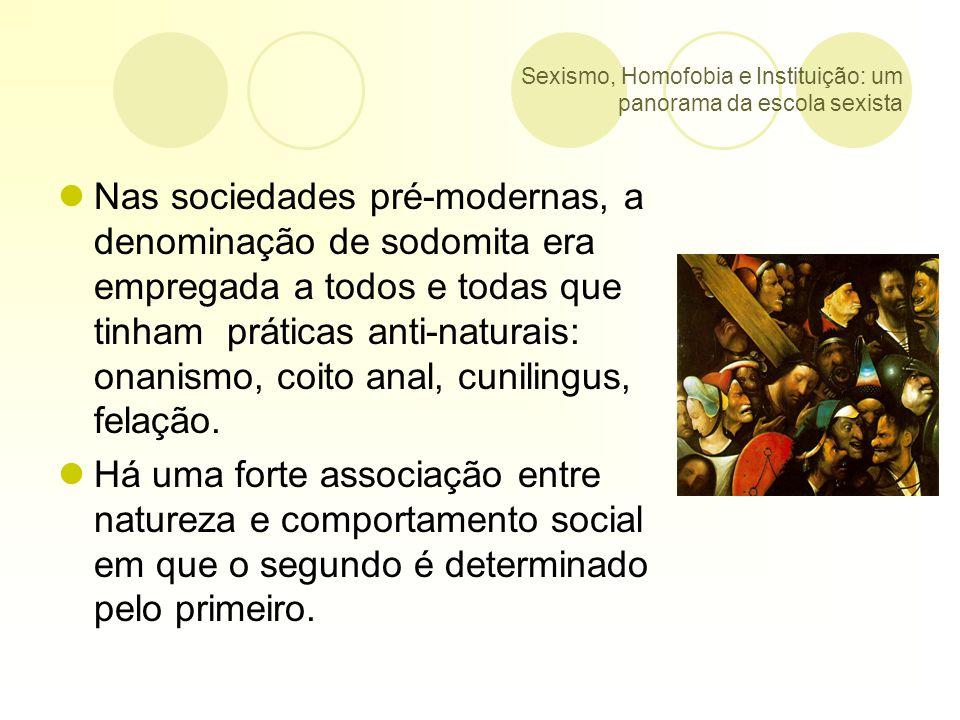 Sexismo, Homofobia e Instituição: um panorama da escola sexista Segundo o Grupo Gay da Bahia (GGB), no Brasil, no ano de 2007, houve 122 assassinatos de GLBT.
