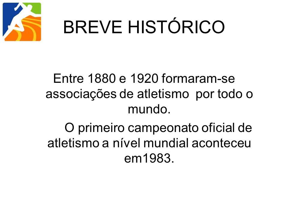 Entre 1880 e 1920 formaram-se associações de atletismo por todo o mundo. O primeiro campeonato oficial de atletismo a nível mundial aconteceu em1983.