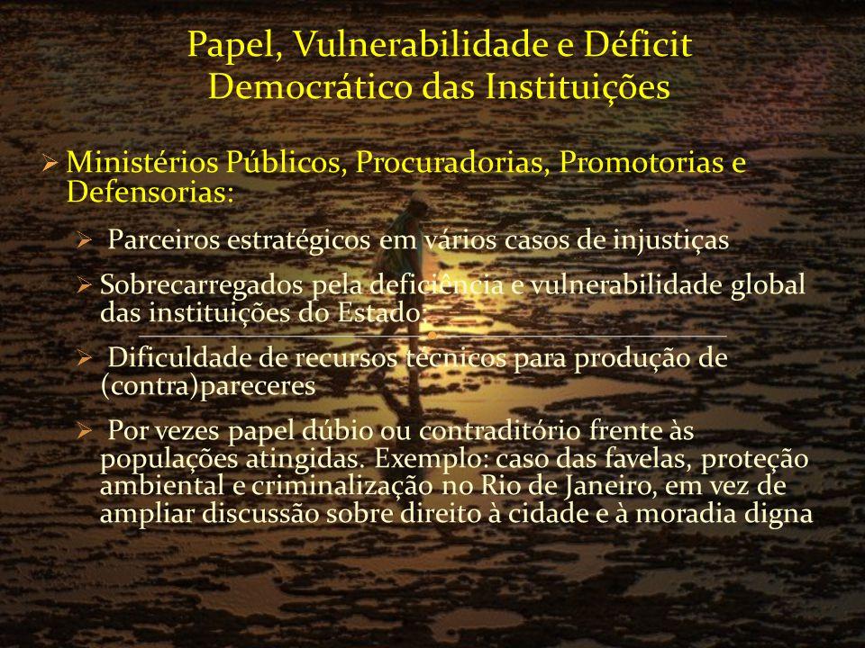 Socializar informações, dando visibilidade a denúncias por parte de populações atingidas; Divulgar os conceitos e movimentos relacionados à (in)justiça ambiental Permitir o monitoramento de ações e de projetos que enfrentem situações de injustiças ambientais e problemas de saúde por parte das instituições Permitir debates públicos sobre estratégias e práticas de gestão ambiental nas empresas e pelos órgãos de governo, tornando-os mais democráticas Contribuir para mudanças no modelo de desenvolvimento brasileiro de forma a torná-lo mais sustentável, justo e democrático