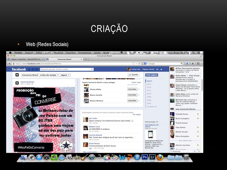 CRIAÇÃO Web (Redes Sociais)