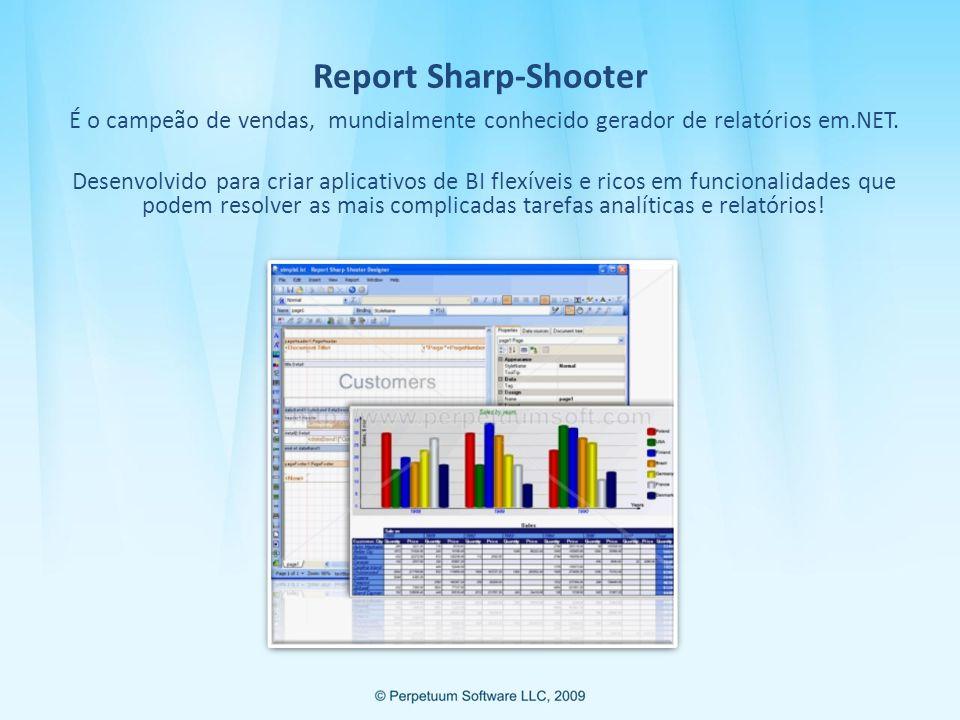 Apresentação de Dados Cubos Os dados de seus relatórios também podem ser apresentados no formato de cubos.