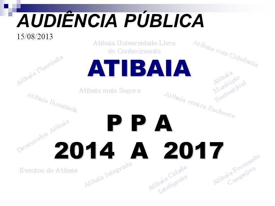 ATIBAIA P P A 2014 A 2017 AUDIÊNCIA PÚBLICA 15/08/2013