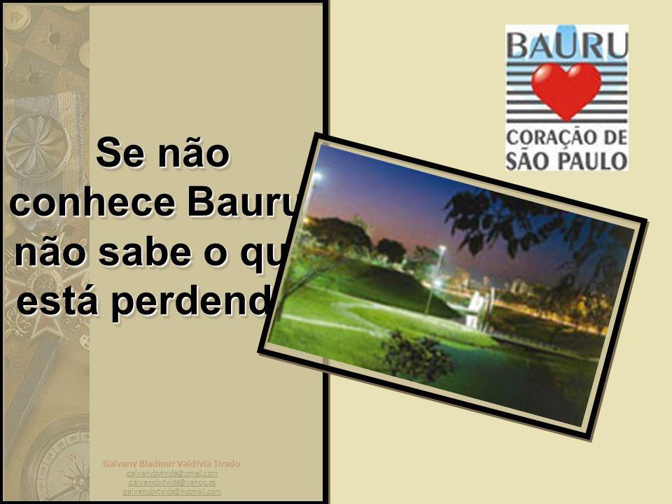 Galvany Bladimir Valdivia Tirado galvanybvtvida@gmail.com galvanybvtvida@yahoo.es galvanybvtvida@hotmail.com Mas Bauru é isso. Uma ótima cidade para s