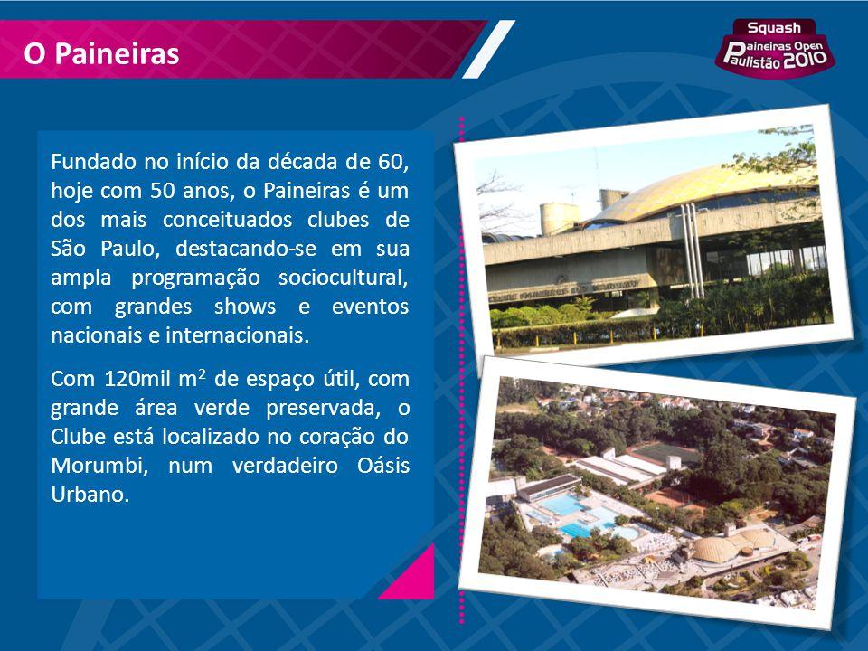 Fundado no início da década de 60, hoje com 50 anos, o Paineiras é um dos mais conceituados clubes de São Paulo, destacando-se em sua ampla programaçã