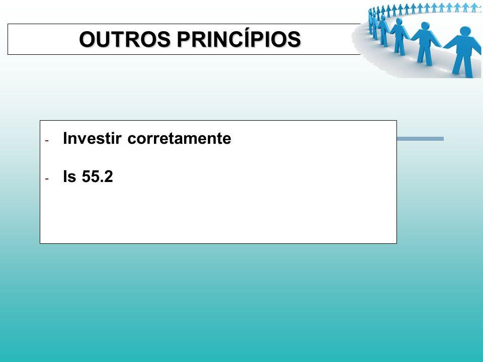 OUTROS PRINCÍPIOS OUTROS PRINCÍPIOS - Evite o endividamento - Rm 13.7-8 - Pv 22.7