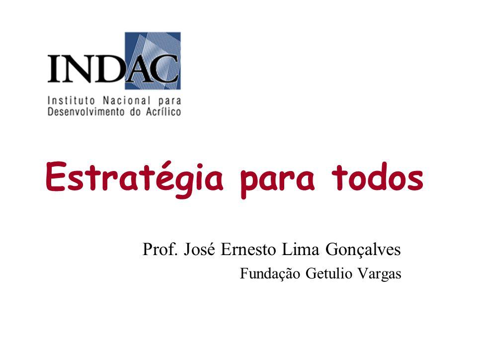 Estratégia para todos Prof. José Ernesto Lima Gonçalves Fundação Getulio Vargas