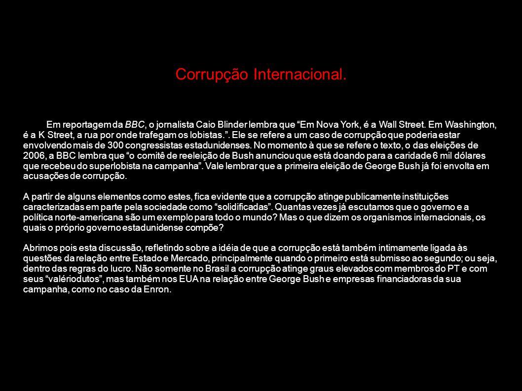Corrupção Internacional.