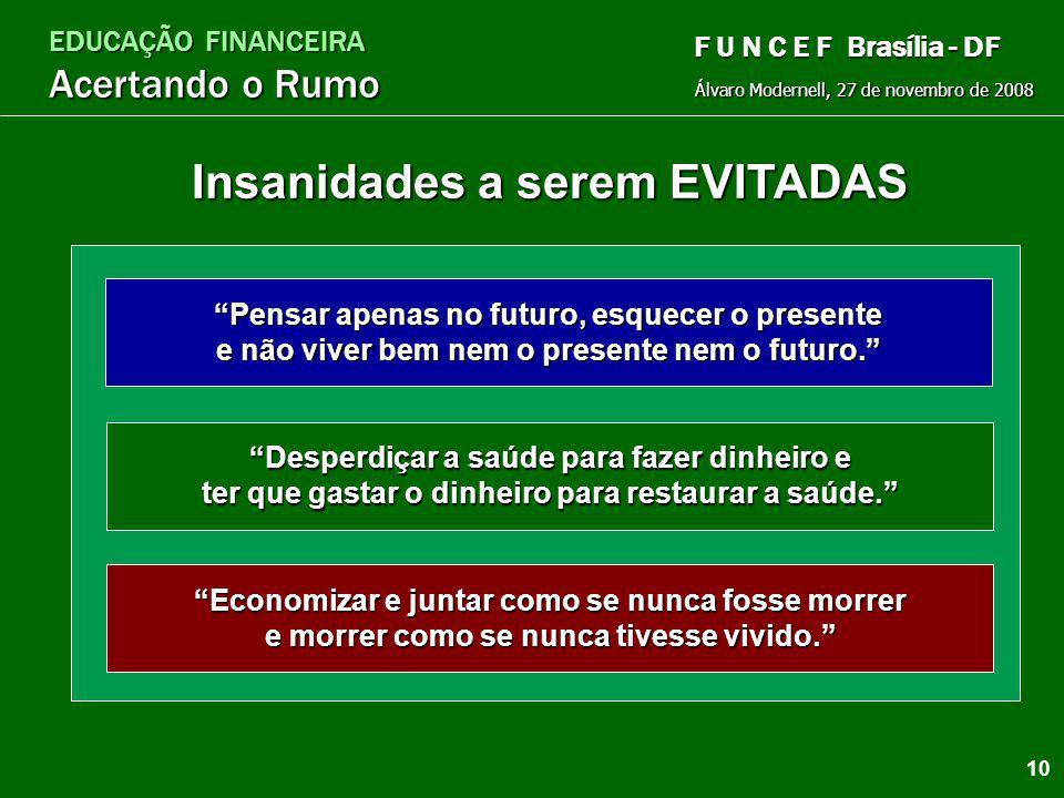 EDUCAÇÃO FINANCEIRA Acertando o Rumo Álvaro Modernell, 27 de novembro de 2008 F U N C E F Brasília - DF Flexibilidade Durabilidade Curva da Flexibilid