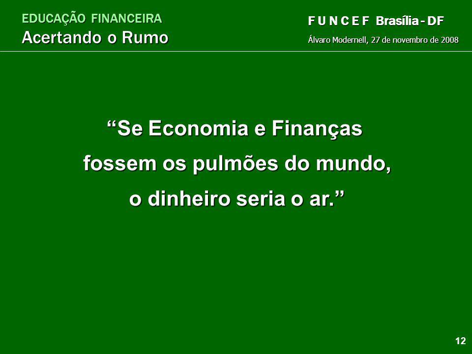 EDUCAÇÃO FINANCEIRA Acertando o Rumo Álvaro Modernell, 27 de novembro de 2008 F U N C E F Brasília - DF O real valor do dinheiro Casa Lar Relógio Temp