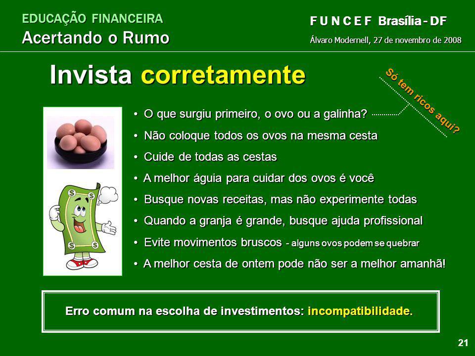EDUCAÇÃO FINANCEIRA Acertando o Rumo Álvaro Modernell, 27 de novembro de 2008 F U N C E F Brasília - DF Pague primeiro a você mesmo I P M M ® Imposto